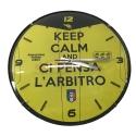 """Orologio """"KEEP CALM"""" GIALLO"""