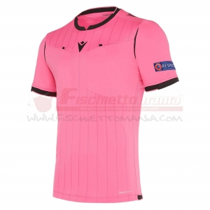 Maglia gara MACRON UEFA Referee manica corta NEON PINK