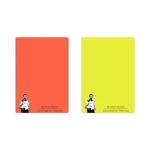 Coppia cartellini FM Neon 12x9 cm con logo personalizzato