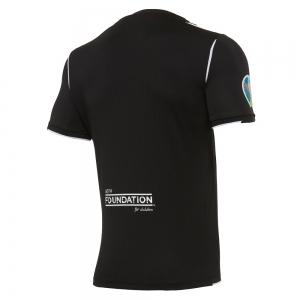 Maglia gara EURO 2020 MACRON UEFA Referee manica corta BLACK