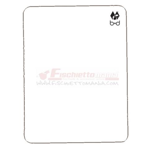 Cartellino B+D Bianco 12x9 cm