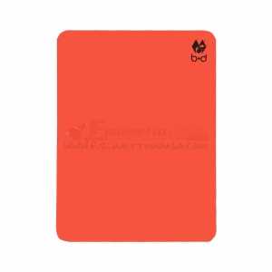 Cartellino B+D Red 12x9 cm